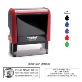Alabama Notary Stamp - Trodat 4913 Flame Red