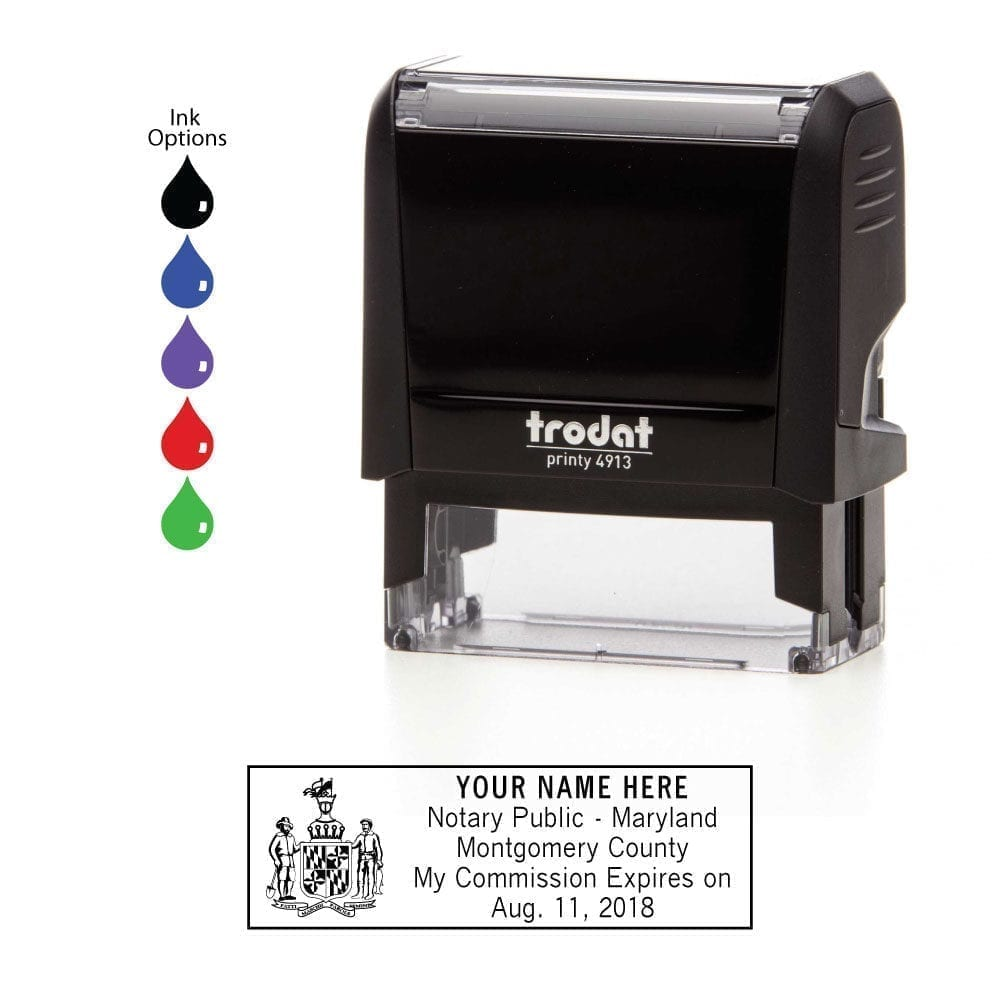 Maryland Notary Stamp - Trodat 4913 Black