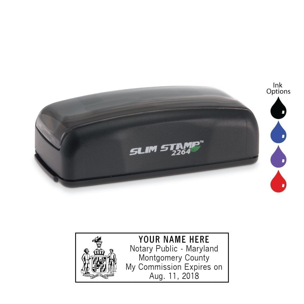 Maryland Notary Stamp - PSI 2264 Slim