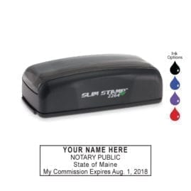 Maine Notary Stamp - PSI 2264 Slim