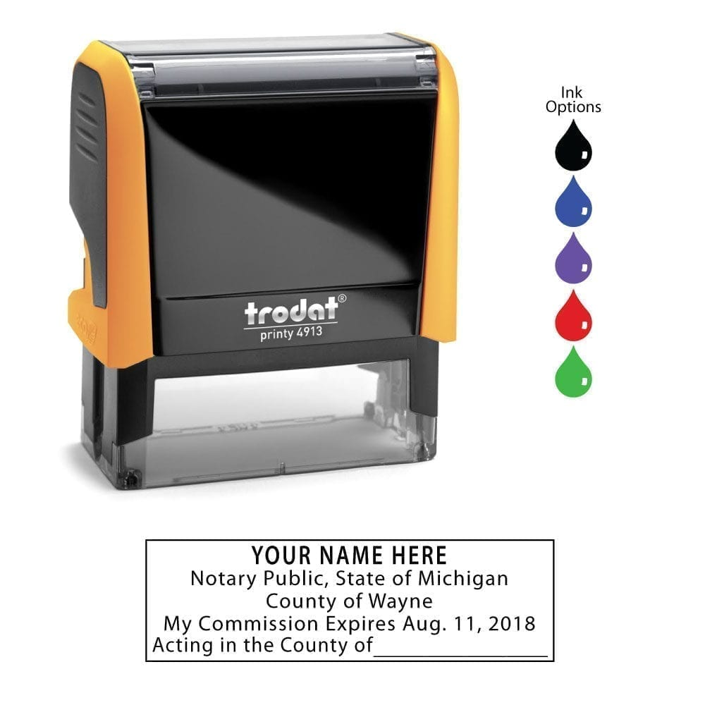 Michigan Notary Stamp – Trodat 4913 Mango