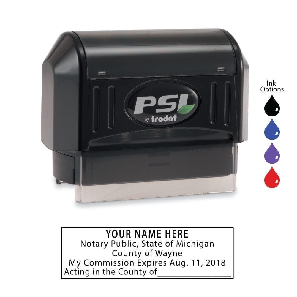 Michigan Notary Stamp – PSI 2264