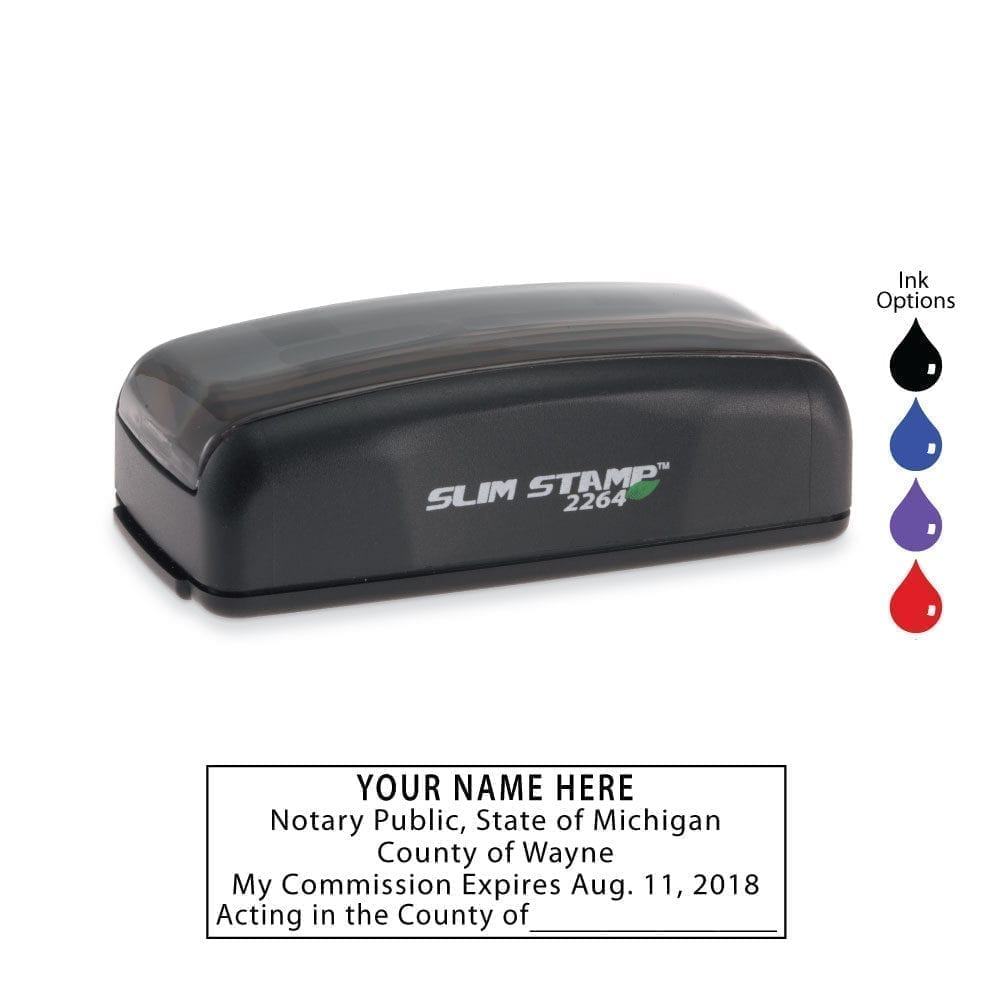 Michigan Notary Stamp – PSI 2264 Slim