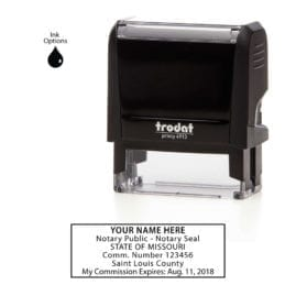 Missouri Notary Stamp - Trodat 4913 Eco Gray