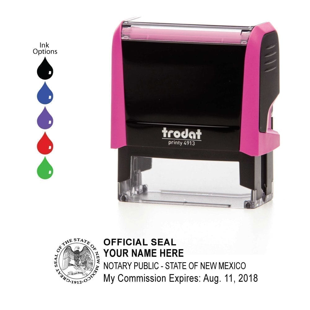 New Mexico Notary Stamp – Trodat 4913 Fuchsia