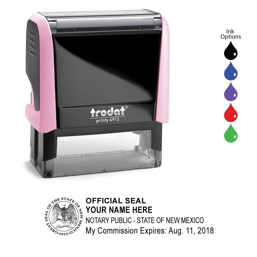 New Mexico Notary Stamp – Trodat 4913 Light Pink