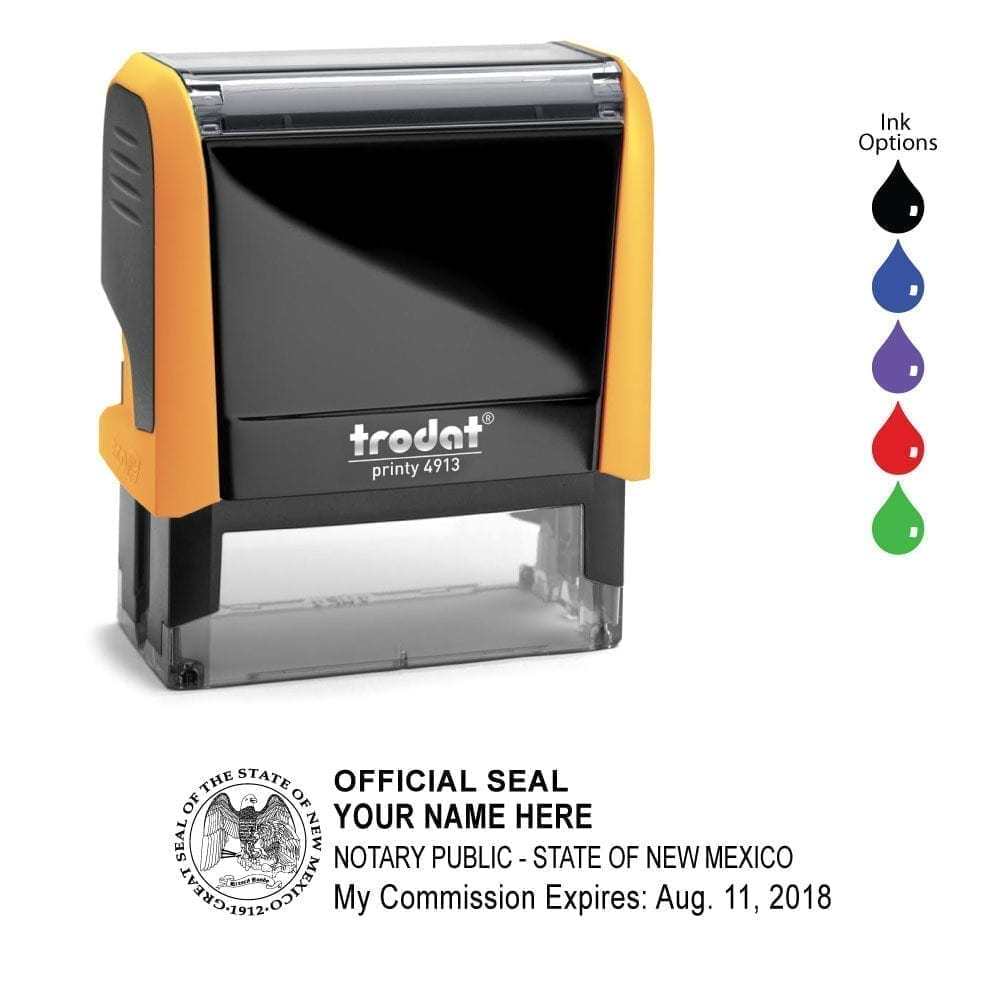 New Mexico Notary Stamp – Trodat 4913 Mango