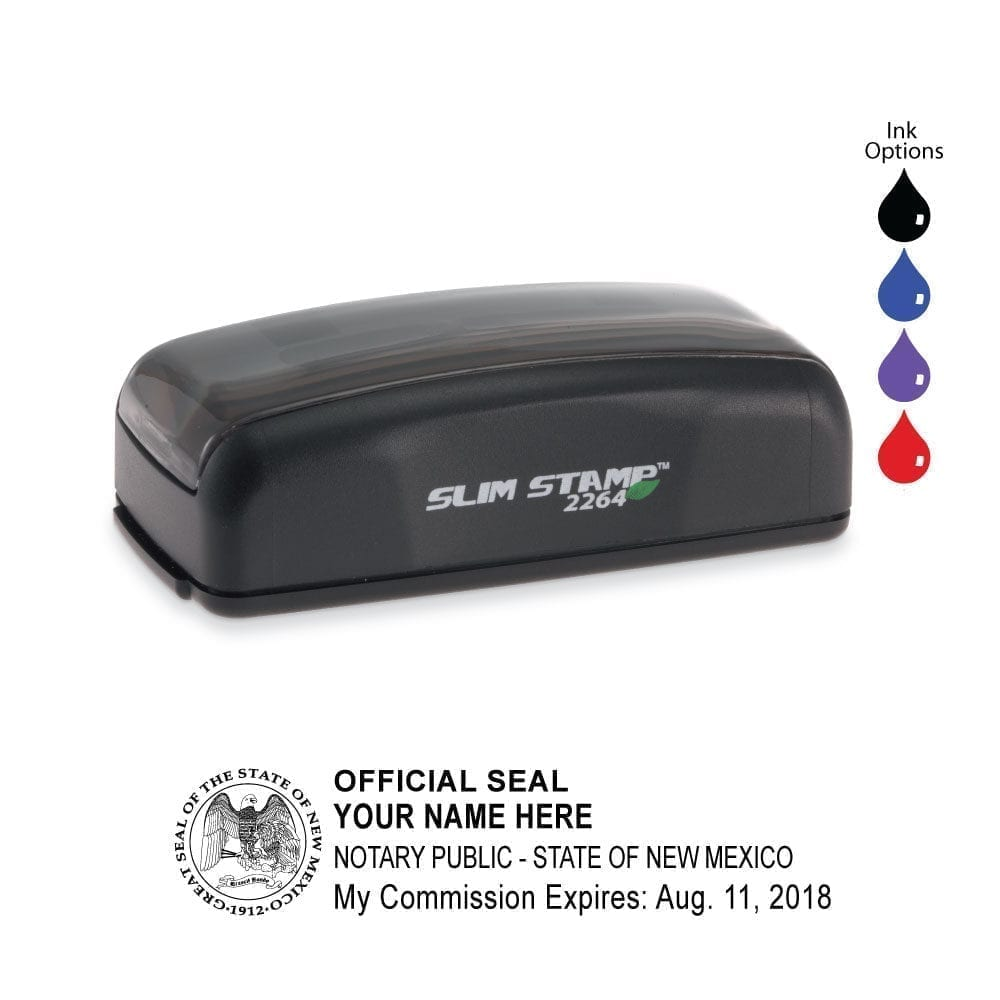New Mexico Notary Stamp – PSI 2264 Slim