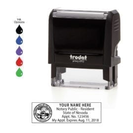 Nevada Notary Stamp - Trodat 4913 Black