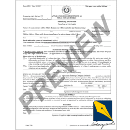 Texas Notary Bond - Merchants