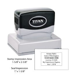 Washington Notary Stamp - Titan 165