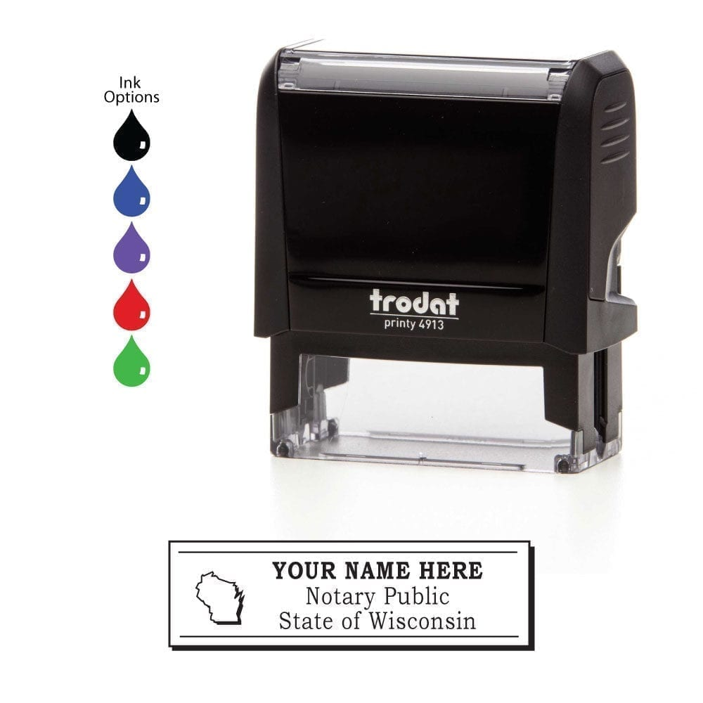 Wisconsin Notary Stamp – Trodat 4913 Black
