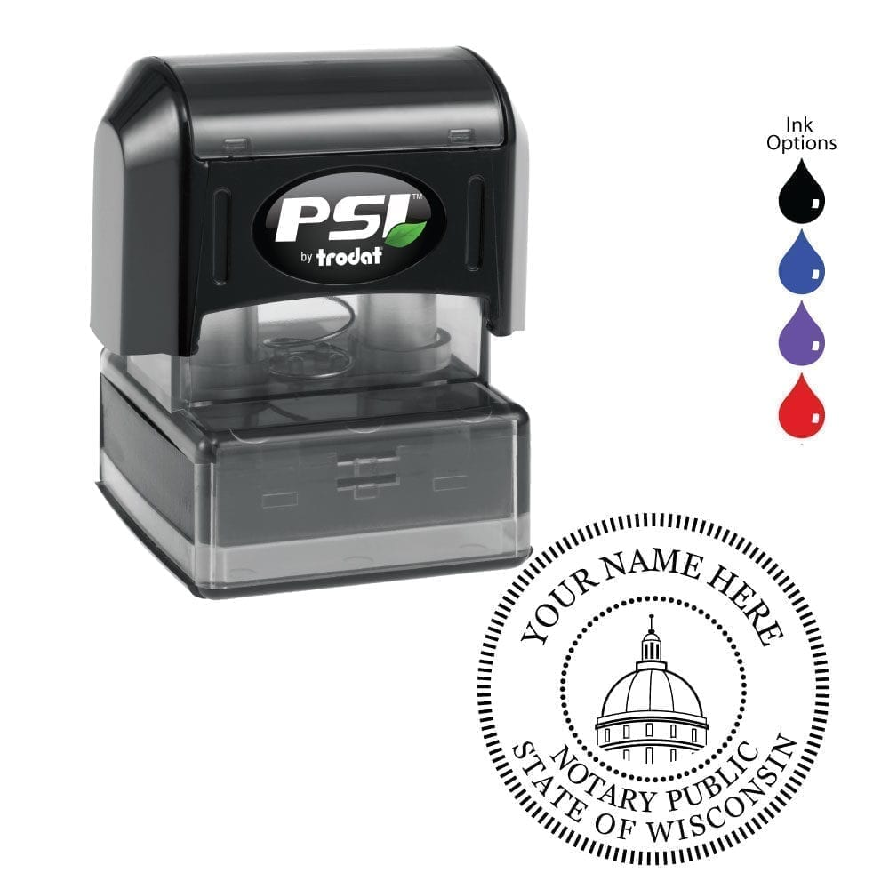 Wisconsin Notary Stamp – PSI 4141