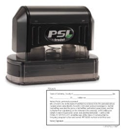 California Notary Acknowledgment Stamp - PSI 3679
