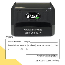 Kentucky Notary Jurat Stamp