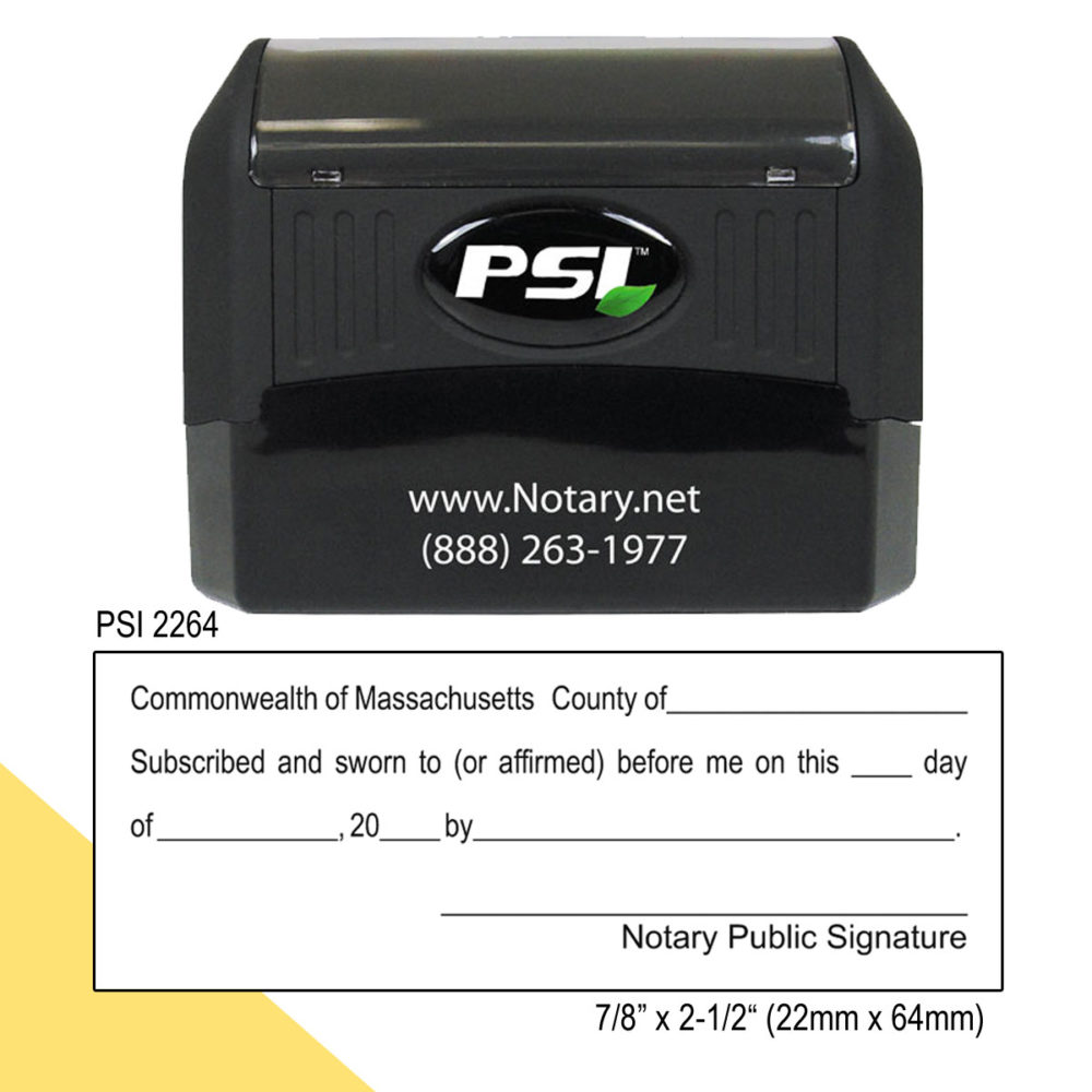Massachusetts Notary Jurat Stamp
