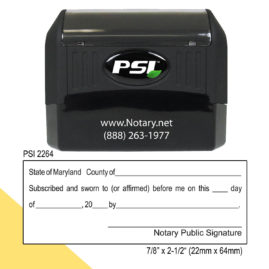 Maryland Notary Jurat Stamp