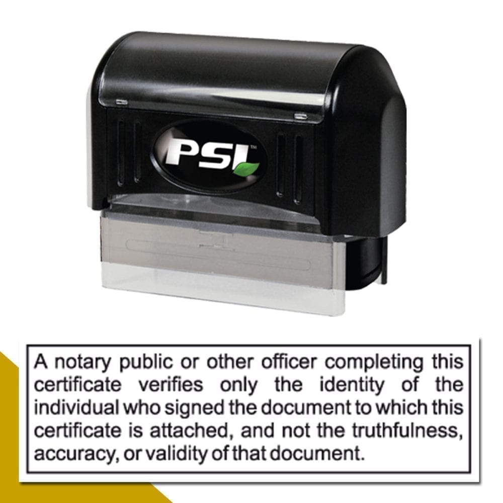 California Notary Disclaimer Stamp