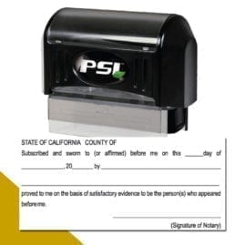 California Notary Jurat Stamp