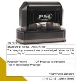 Florida Notary Acknowledgment Stamp