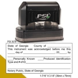 Georgia Notary Acknowledgment Stamp