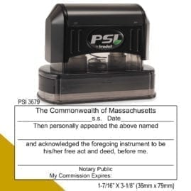Massachusetts Notary Acknowledgment Stamp