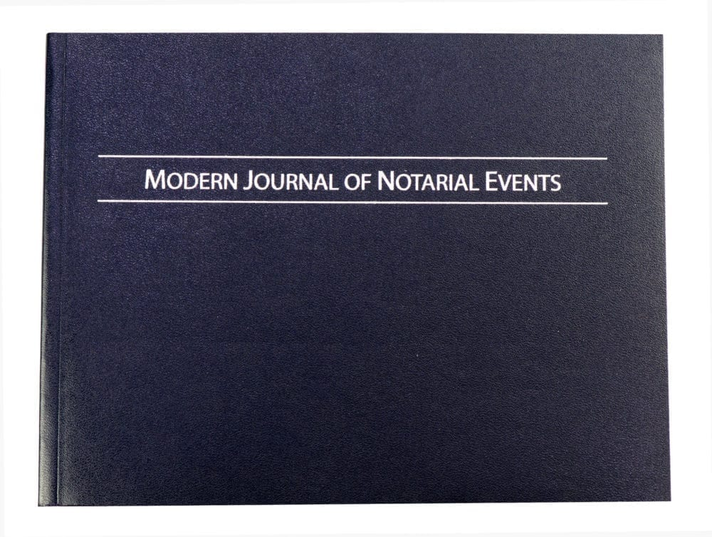 Modern Notary Journal (Soft Cover)