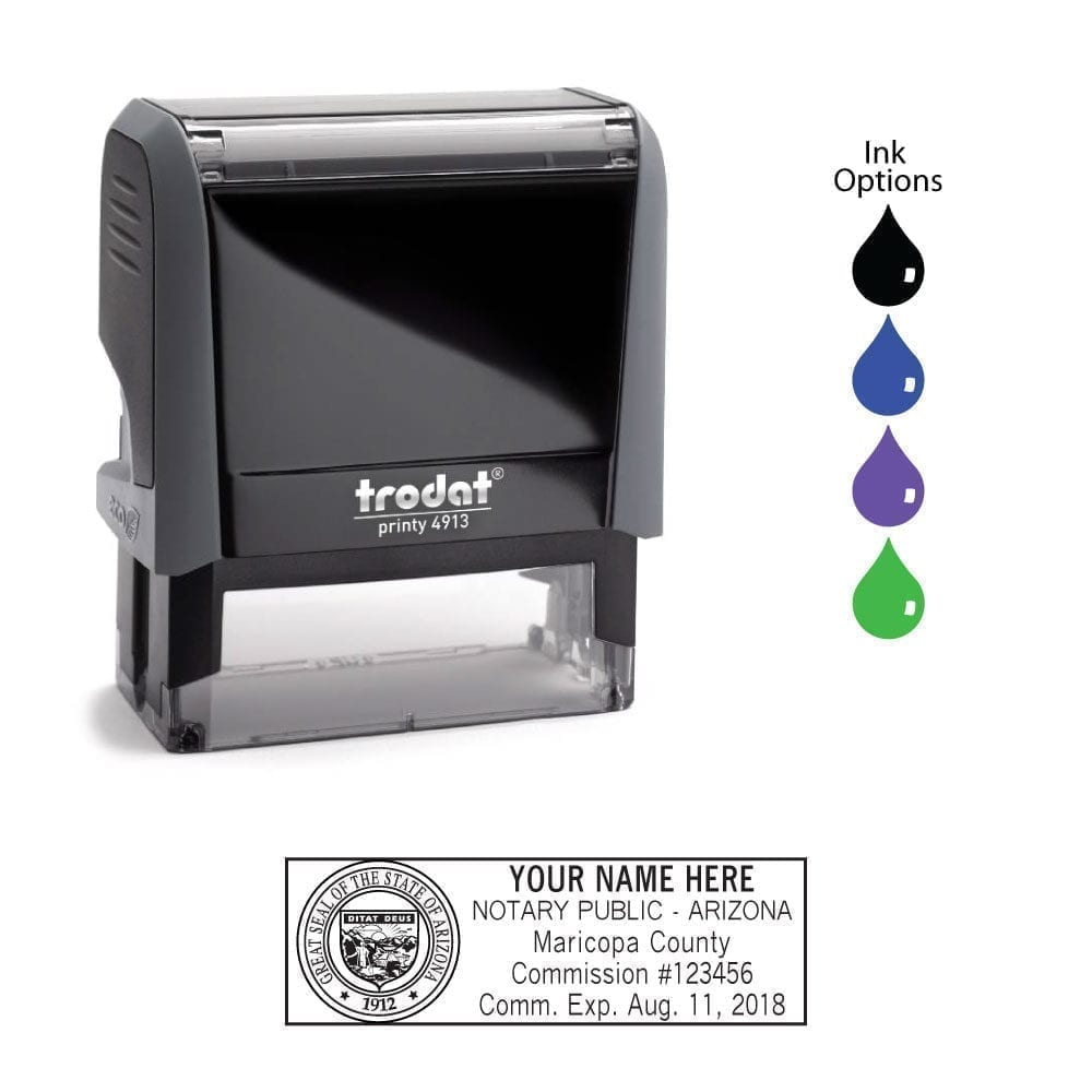 Arizona Notary Stamp - Trodat 4913 Eco Gray