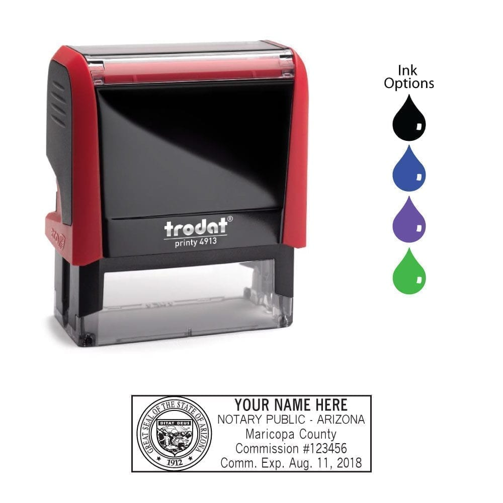 Arizona Notary Stamp - Trodat 4913 Red