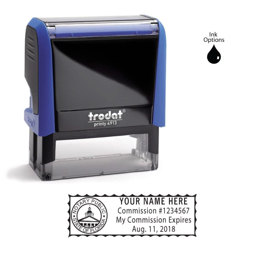 Florida Notary Stamp – Trodat 4913 Sky Blue