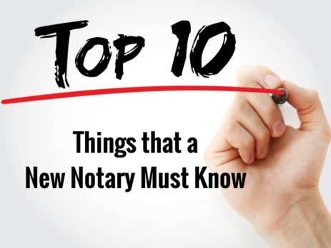 Top 10 Things a New Notary Must Know