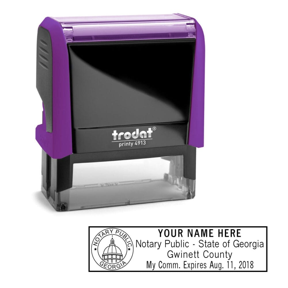 Georgia Notary Stamp - Trodat 4913 Violet