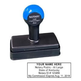 Kentucky Traditional Notary Stamp - Shiny Duo
