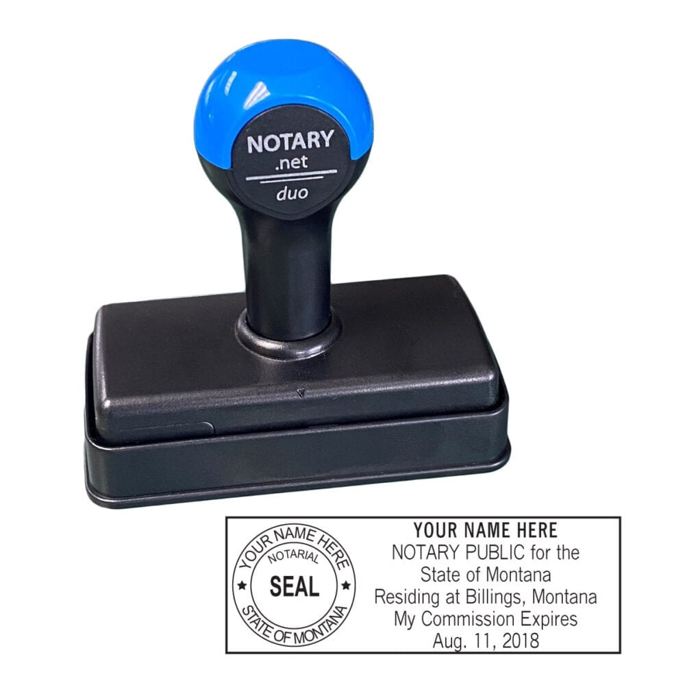 Montana Traditional Notary Stamp - Shiny Duo
